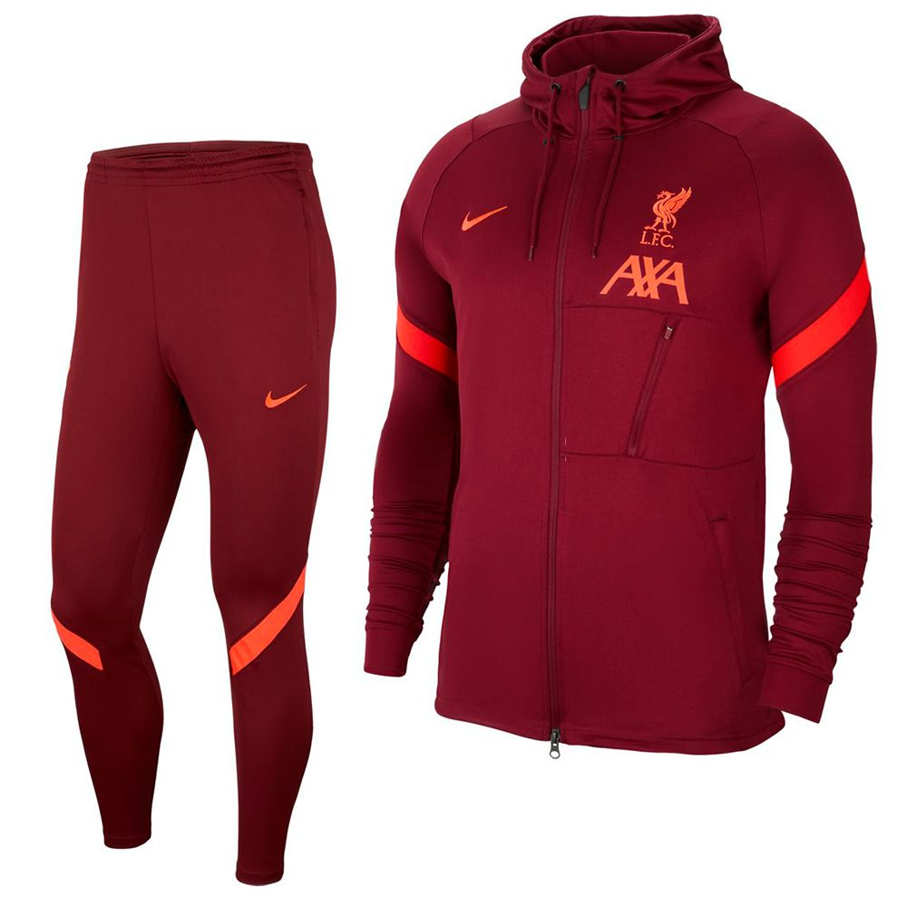 Nike Liverpool Strike Hoodie Trainingspak 2021-2022 Rood Felrood