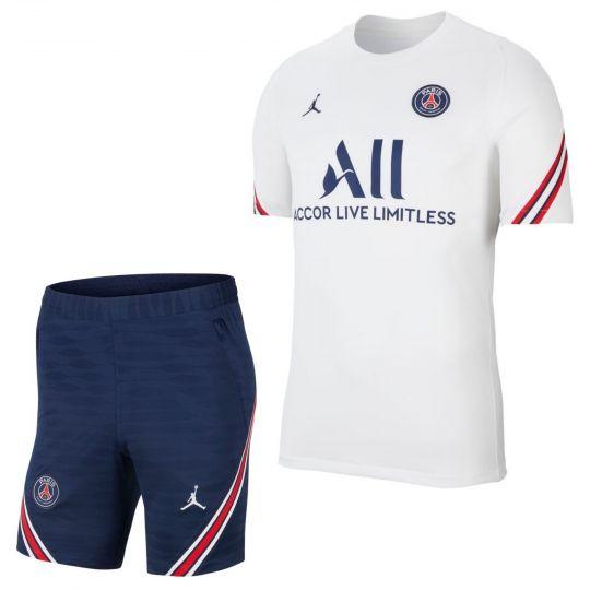 Nike Paris Saint Germain Strike Trainingsset 2021-2022 Wit Donkerblauw