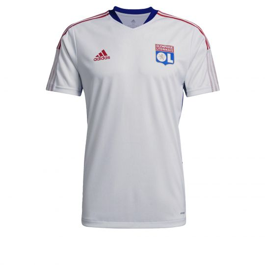adidas Olympique Lyon Trainingsshirt 2021-2022 Wit Rood Blauw