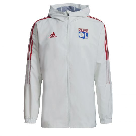 adidas Olympique Lyon Presentatie Trainingsjack 2021-2022 Wit Blauw Rood