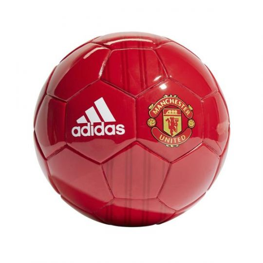 adidas Manchester United Mini Voetbal Maat 1 Rood Goud
