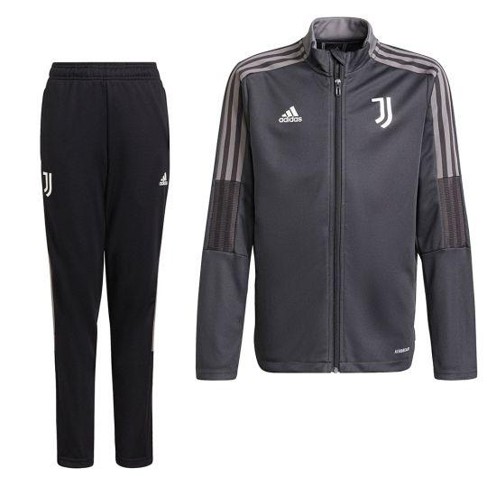 adidas Juventus Trainingspak 2021-2022 Kids Donkergrijs
