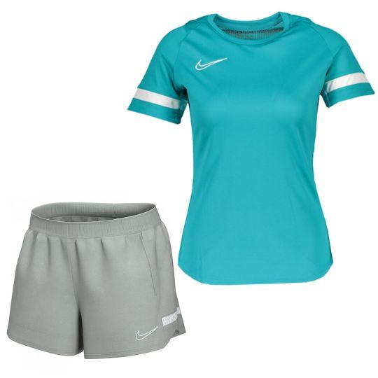 Nike Academy 21 Trainingsset Dames Turquoise Wit