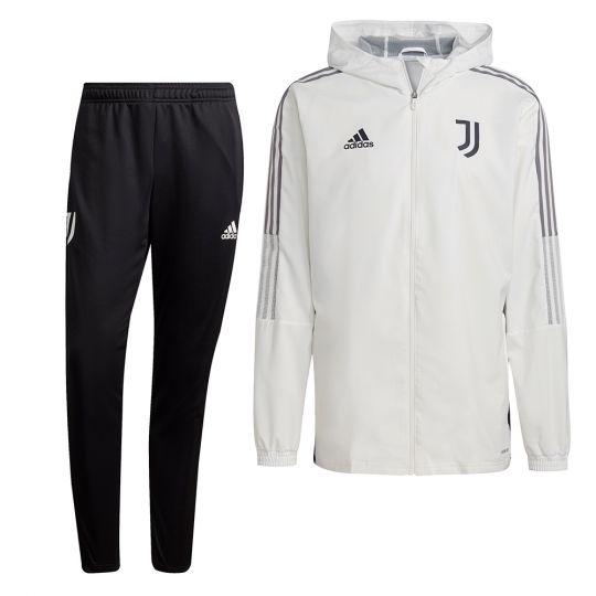 adidas Juventus Presentatie Trainingspak 2021-2022 Wit Zwart