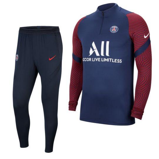 Nike Paris Saint Germain Dry Strike Trainingspak Donkerblauw Rood