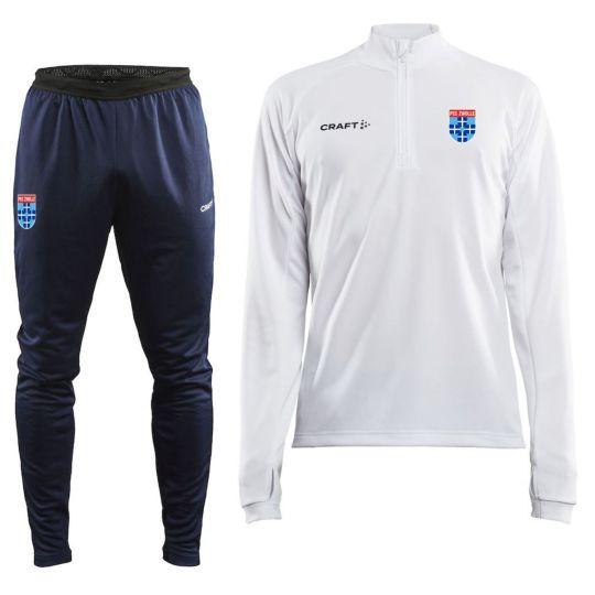 PEC Zwolle Trainingspak 1/4Zip Slim-Fit 2021-2022 Wit