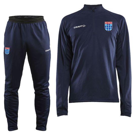 PEC Zwolle Trainingspak 1/4Zip 2021-2022 Blauw