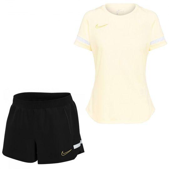 Nike Academy 21 Trainingsset Dames Beige Wit Goud Zwart