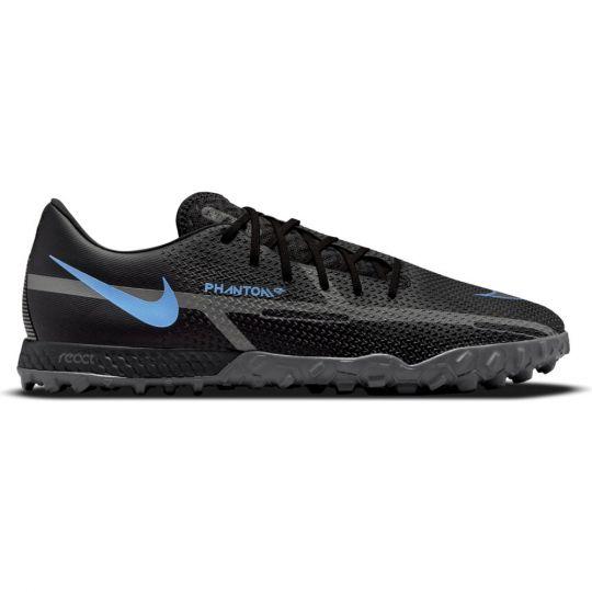 Nike Phantom GT 2 Pro React Turf Voetbalschoenen (TF) Zwart Donkergrijs