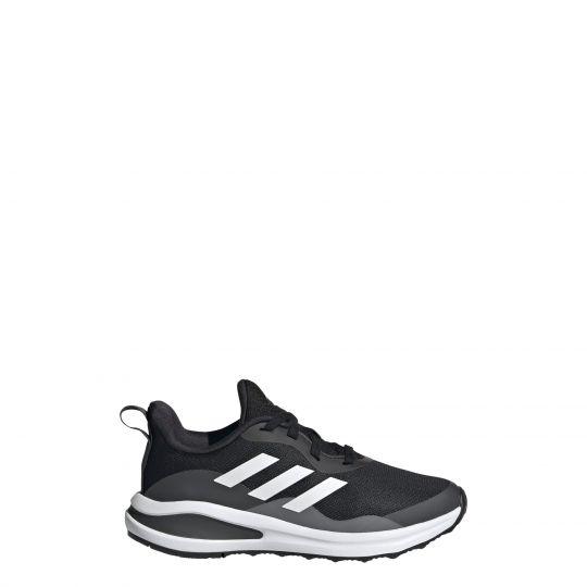 adidas FortaRun Lace Hardloopschoenen Kids Zwart Grijs Wit