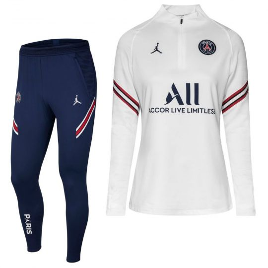 Nike Paris Saint Germain Strike Drill Trainingspak 2021-2022 Dames Wit Donkerblauw