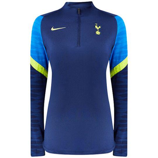 Nike Tottenham Hotspur Strike Drill Trainingstrui 2021-2022 Dames Donkerblauw Blauw Geel