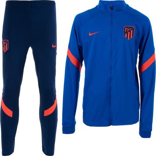 Nike Atletico Madrid Strike Trainingspak 2021-2022 Kids Blauw Felrood