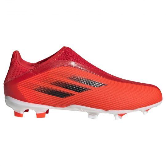 adidas X Speedflow.3 LL Gras Voetbalschoenen (FG) Kids Rood Zwart Rood