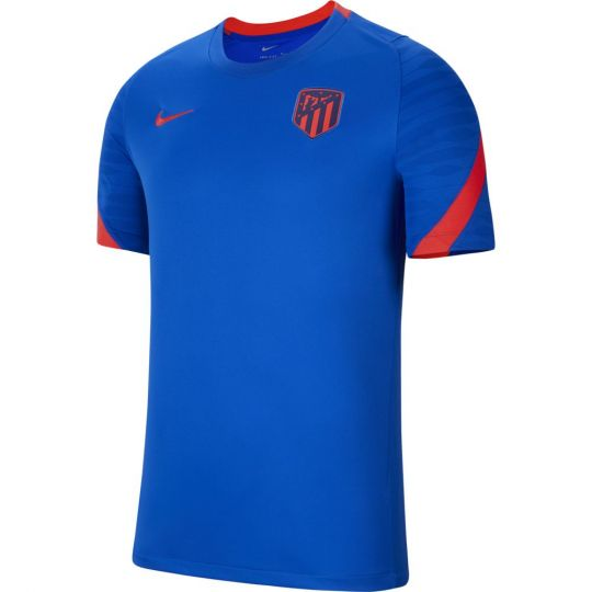 Nike Atletico Madrid Strike Trainingsshirt 2021-2022 Blauw Felrood