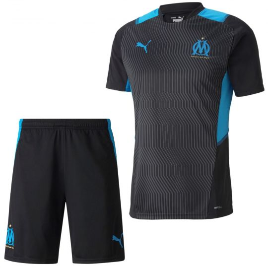 PUMA Olympique Trainingsset 2021-2022 Zwart Blauw