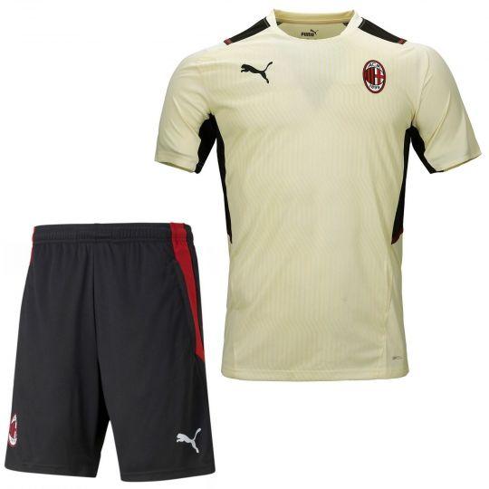 PUMA AC Milan Trainingsset 2021-2022 Crème Zwart