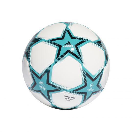 adidas Real Madrid UCL Mini Voetbal Maat 1 PS Wit Blauw Zwart