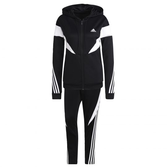 adidas Sportswear Colorblock Trainingspak Dames Zwart