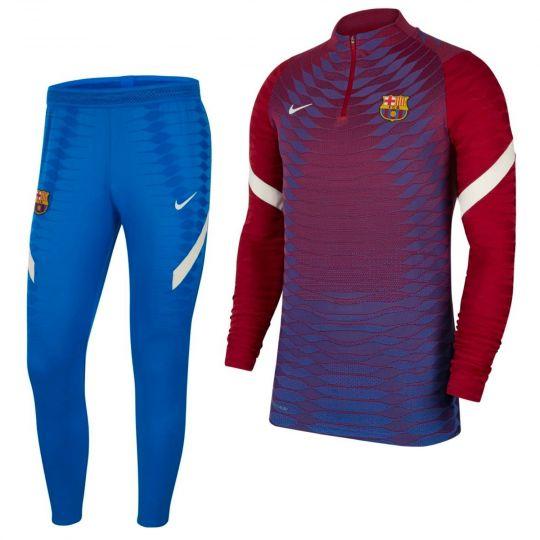 Nike FC Barcelona Elite Drill Trainingspak 2021-2022 Rood Blauw