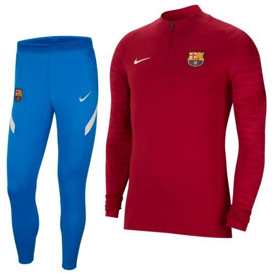 Nike FC Barcelona Strike Drill Trainingspak 2021-2022 Kids Rood Blauw
