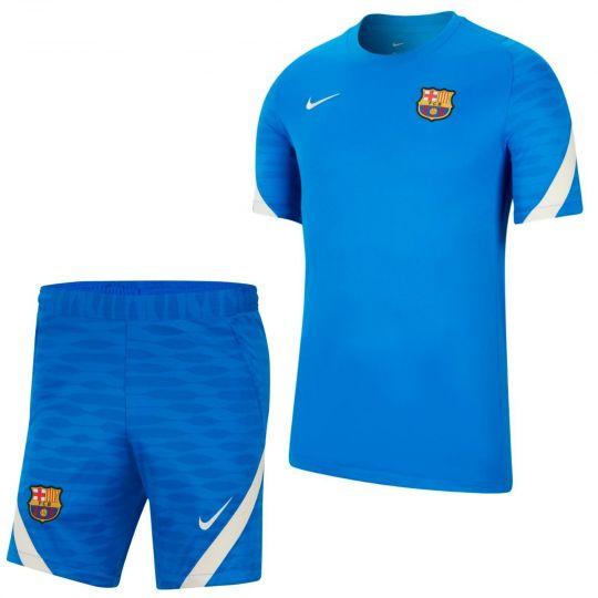 Nike FC Barcelona Strike Trainingsset 2021-2022 Blauw Lichtgrijs