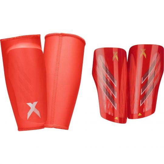 adidas X Scheenbeschermers League Rood Wit Grijs