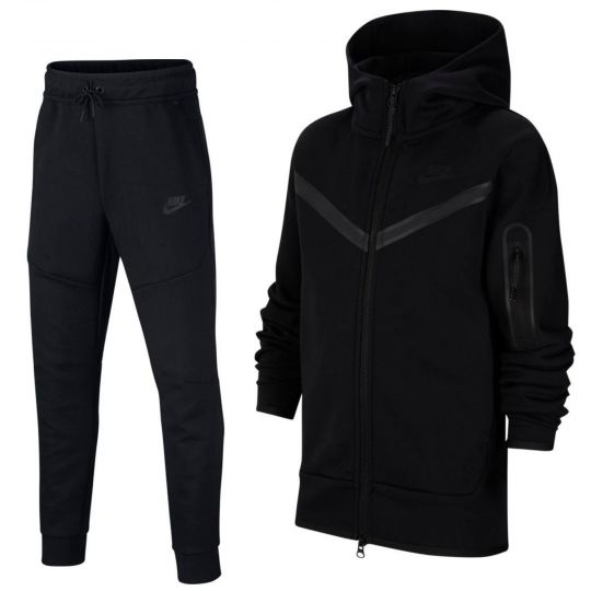 Nike Tech Fleece Trainingspak Full-Zip Kids Zwart