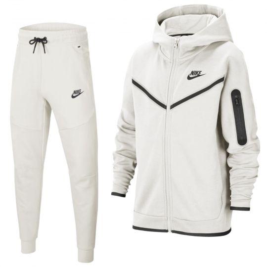 Nike Tech Fleece Trainingspak Full-Zip Kids Beige