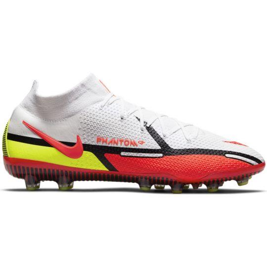 Nike Phantom GT 2 Elite DF Kunstgras Voetbalschoenen (AG) Wit Rood Geel