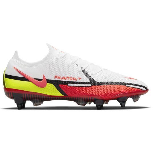 Nike Phantom GT 2 Elite Ijzeren-Nop Voetbalschoenen (SG) Anti-Clog Wit Rood Geel