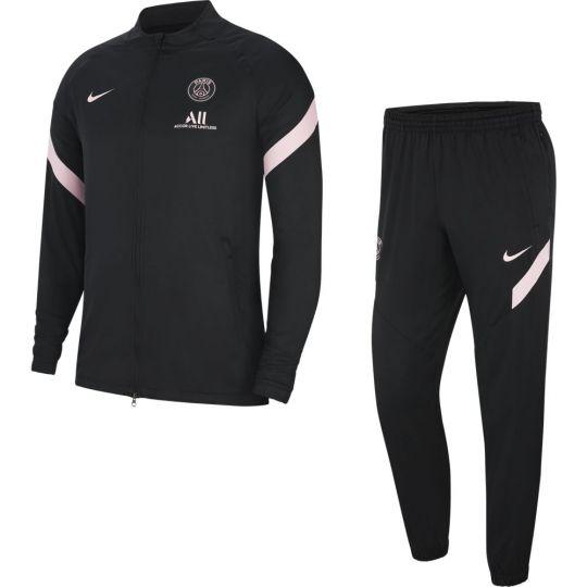 Nike Paris Saint Germain Strike Trainingspak 2021-2022 Kids Zwart Roze