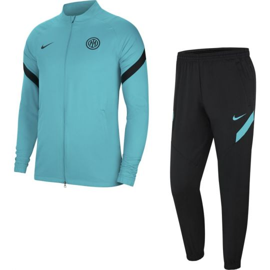 Nike Inter Milan Strike Trainingspak 2021-2022 Kids Turquoise Zwart