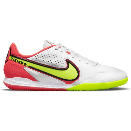 Nike Tiempo Legend 9 Pro React Zaalvoetbalschoenen (IC) Wit Geel Rood