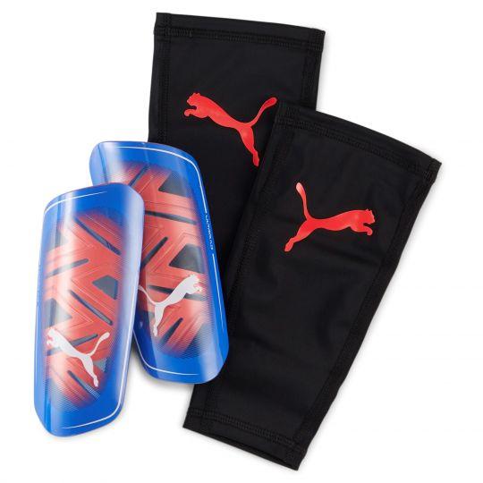 PUMA Ultra Flex Sleeve Scheenbeschermers Blauw Rood Zwart