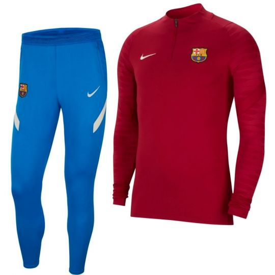 Nike FC Barcelona Strike Drill Trainingspak 2021-2022 Rood Blauw
