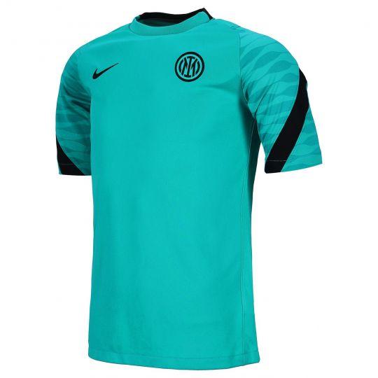 Nike Inter Milan Strike Trainingshirt 2021-2022 Turquoise Zwart