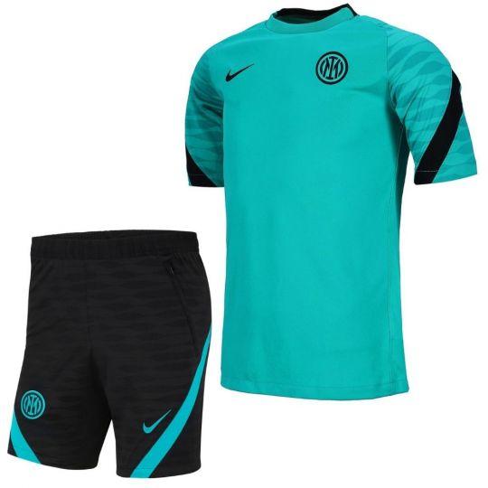 Nike Inter Milan Strike Trainingsset 2021-2022 Turquoise Zwart