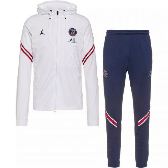 Nike Paris Saint Germain Strike Hoodie Trainingspak 2021-2022 Wit Donkerblauw