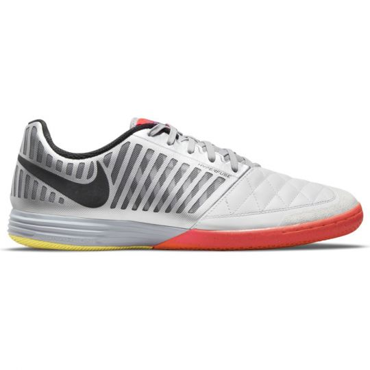 Nike LunarGato II Zaalvoetbalschoenen Wit Zilver Felrood