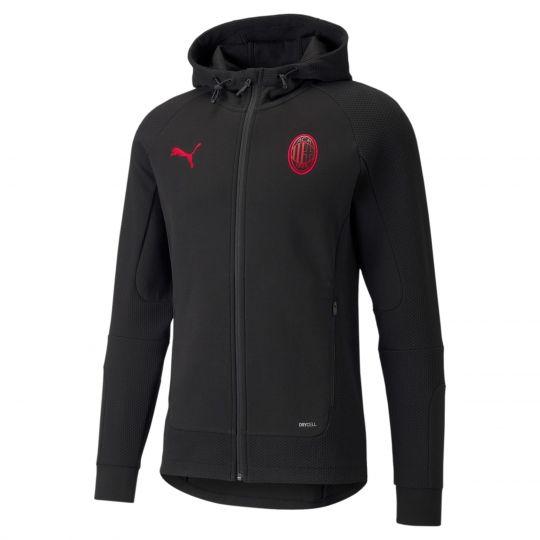 PUMA AC Milan Casuals Hoodie Full Zip 2021-2022 Zwart Rood