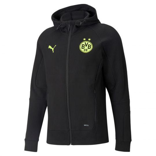 PUMA Borussia Dortmund Casuals Trainingsjack 2021-2022 Zwart Geel