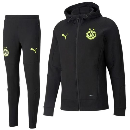 PUMA Borussia Dortmund Casuals Sweat Trainingspak 2021-2022 Zwart Geel