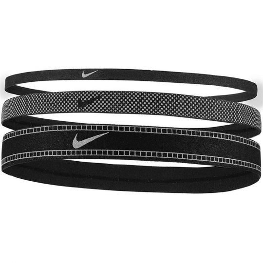 Nike Hoofdbanden Reflecterend 3 Stuks Zwart Zilver Zwart