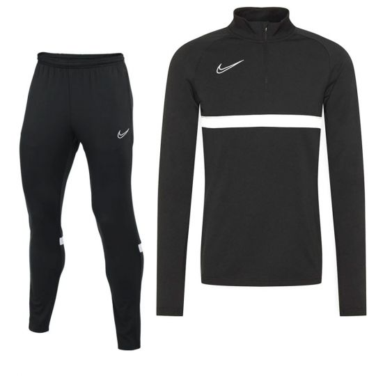 Nike Academy 21 Drill Trainingspak Kids Zwart Wit