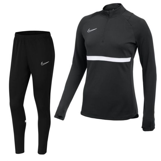 Nike Academy 21 Drill Trainingspak Dames Zwart Wit