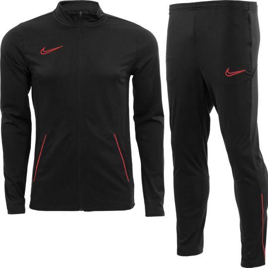 Nike Academy 21 Trainingspak Kids Zwart Felrood