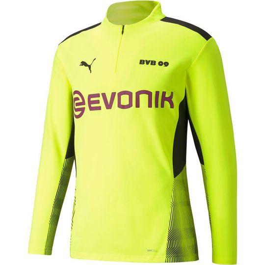 PUMA Borussia Dortmund 1/4 Zip Trainingstrui 2021-2022 Geel Zwart