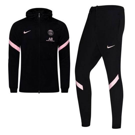Nike Paris Saint Germain Strike Hooded Trainingspak 2021-2022 Zwart Roze