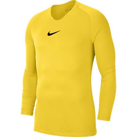 Nike Park Ondershirt Dri-FIT Lange Mouwen Geel Zwart
